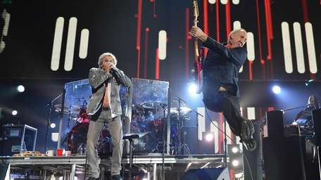 The Who's Roger Daltrey and Pete Townshend perform