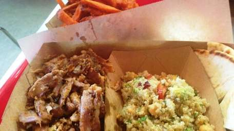 A combination of chicken and pork gyro is