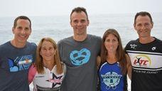 From left, Steven Gartenstein, 46, of Hewlett Harbor,