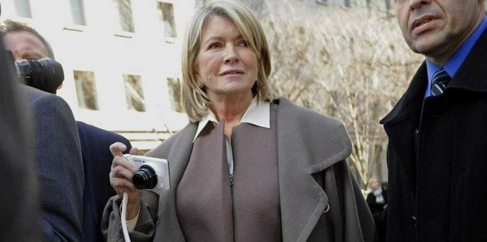 In 2004, television home advice host Martha Stewart