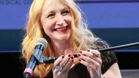 Actress Patricia Clarkson speaks during a theHamptons International