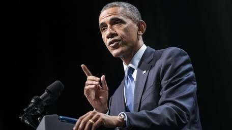 President Barack Obama speaks at Northwestern University in