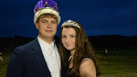 Greenport High School homecoming king and queen Sean