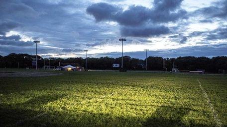 Hampton Bays High School football field in Hampton
