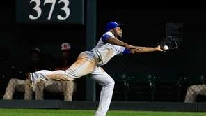 Lorenzo Cain of the Kansas City Royals catches