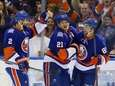 Cory Conacher of the Islanders celebrates his first-period