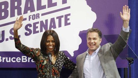 First lady Michelle Obama and U.S. Senate candidate