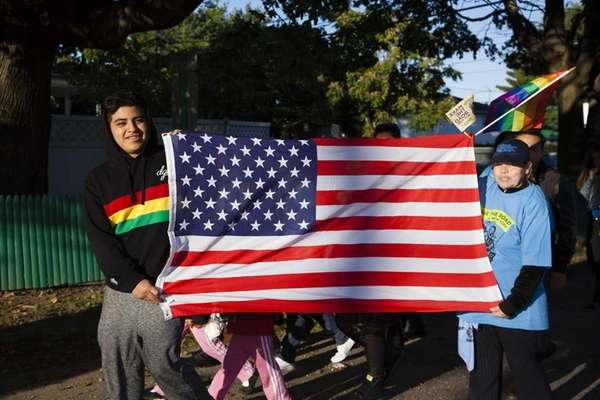 Immigration advocates take to the street during the