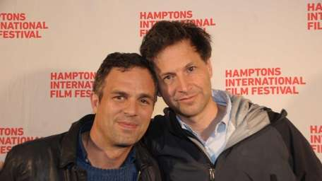 Mark Ruffalo and Bennet Miller on the red