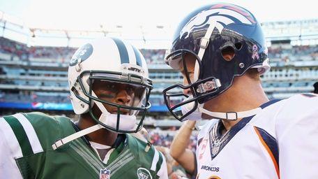 Jets quarterback Geno Smith and Denver Broncos quarterback