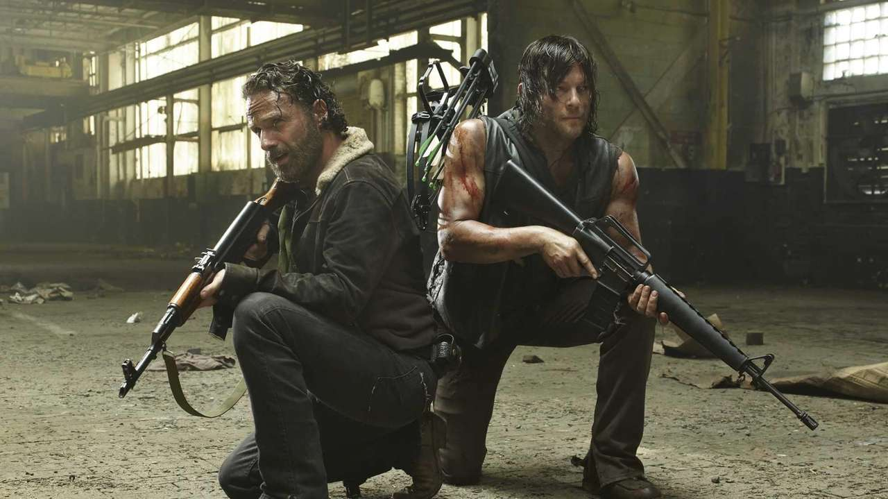 Andrew Lincoln, left, and Norman Reedus star as