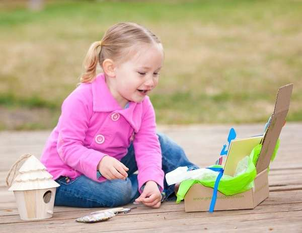 The Green Kid Crafts kit provides eco-friendly science,