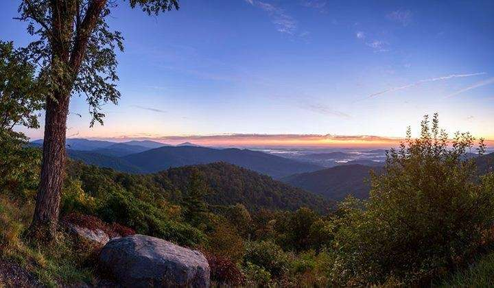 A view from Buck Hollow Overlook at Shenandoah