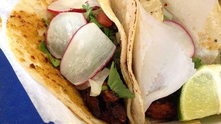Tacos al pastor at El Paso Taco Grill