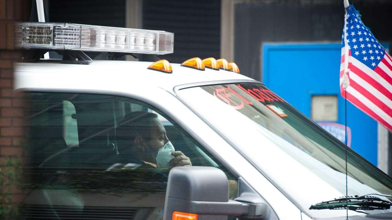 The alleged ambulance driver with a mask on