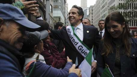 New York State Governor Andrew Cuomo celebrated his