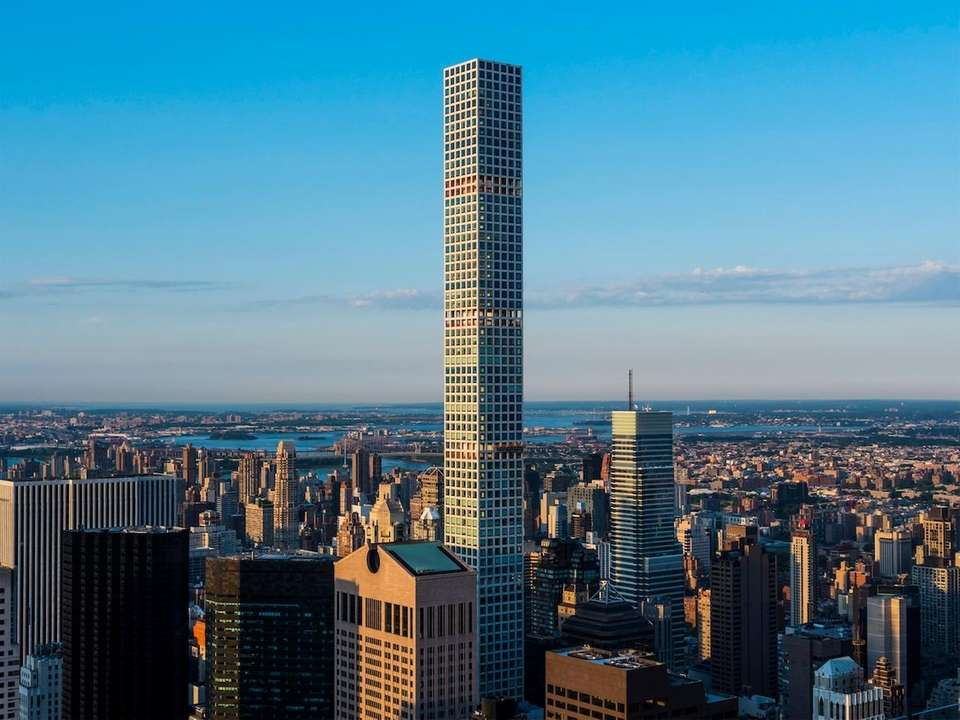 The tower at 432 Park Ave. topped out