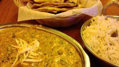 Methi matar mathai (fenugreek leaves and peas in