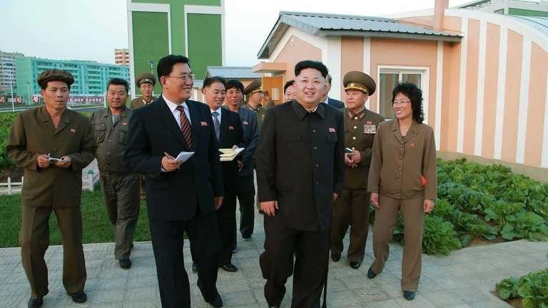 This undated photo released by North Korea's official