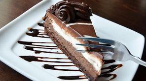 Olive Garden's black tie mousse cake.