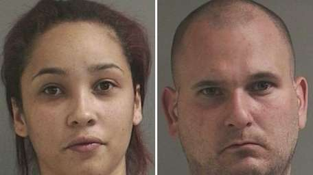Kiara Adames, 23, left, of Central Islip, and