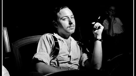 Playwright Tennessee Williams in rehearsal for