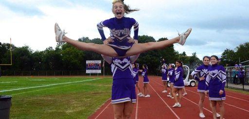 Sayville cheerleaders