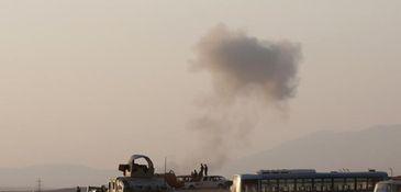 An armored vehicle belonging to Kurdish peshmerga fighters