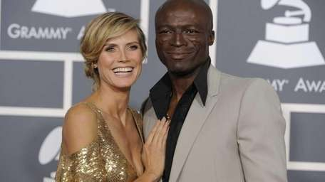Heidi Klum and Seal arrive at the 53rd