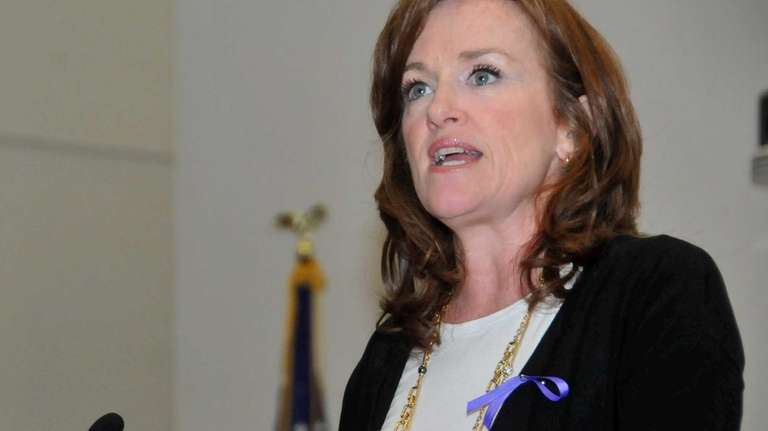 Nassau District Attorney Kathleen Rice spoke on the