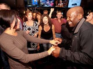 Patrons dance at The Arden in Port Jefferson,