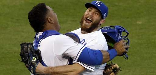Kansas City Royals relief pitcher Greg Holland and