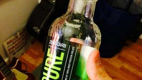 An Isopure protein drink.