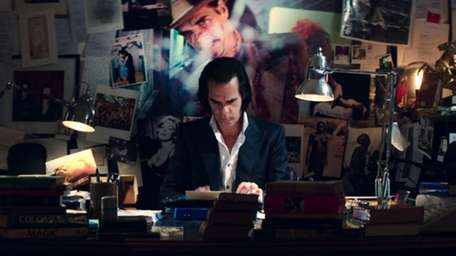 Nick Cave in a scene from the rock