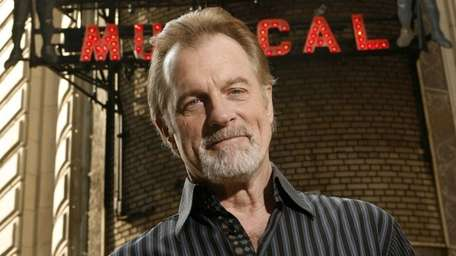 Stephen Collins posing outside of the Shubert Theatre