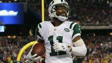 Jeremy Kerley #11 of the Jets reacts during