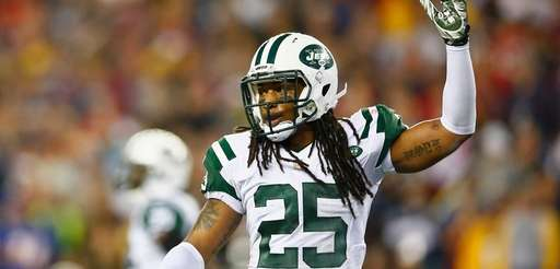 Calvin Pryor of the Jets reacts during the