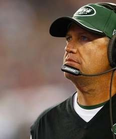 Head coach Rex Ryan of the Jets looks