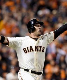 Travis Ishikawa #45 of the San Francisco Giants
