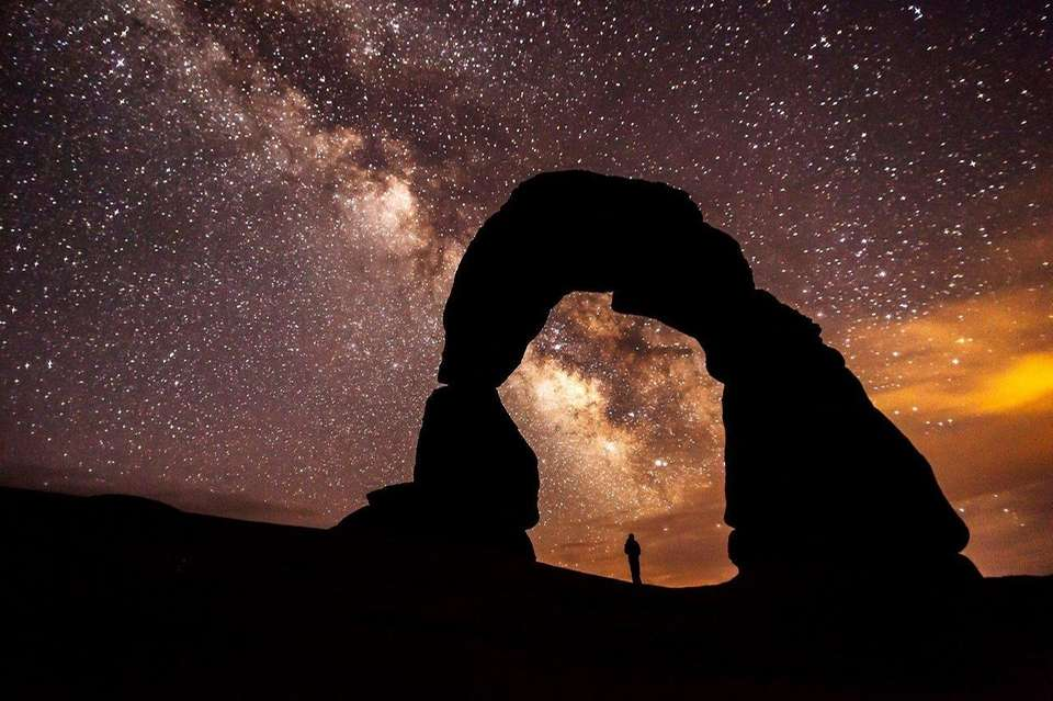 The Milky Way over Arches National Park in