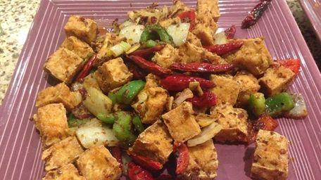 Cumin tofu at Green Tea Restaurant in Stony