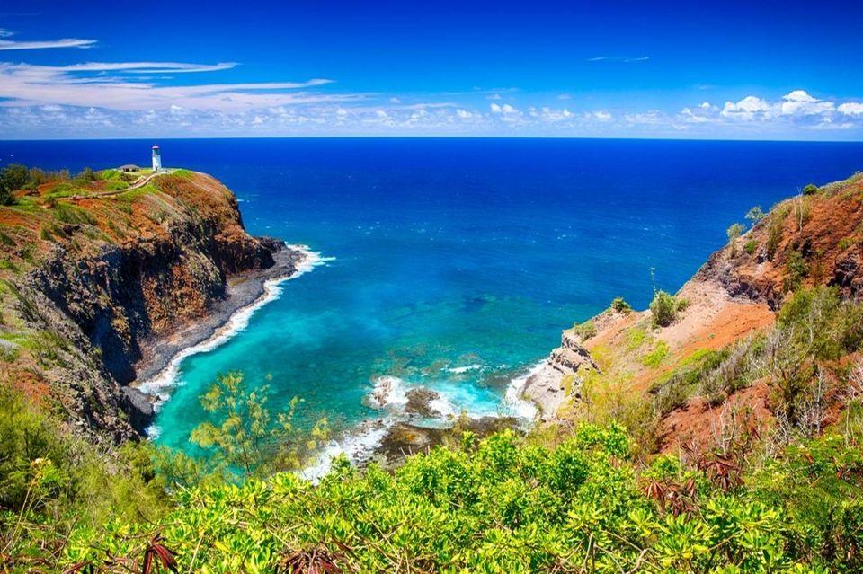 Kilauea Point Lighthouse in the Kilauea Point National