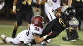 St. Anthony's running back Jordan Gowins is tackled