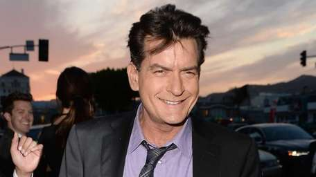 Actor Charlie Sheen arrives at the Dimension Films'