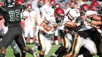 Sachem East's Josh Hanna finds a hole and
