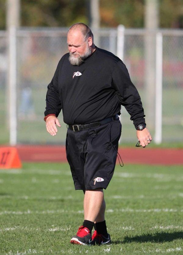 Sachem East head coach Mark Wojciechowski is seen