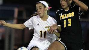 Massapequa's Hope Breslin matches up against St. Anthony's