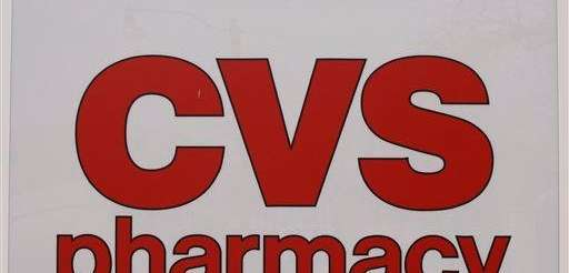A CVS pharmacy sign on a store in