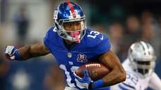 Giants rookie receiver Odell Beckham Jr. carries the