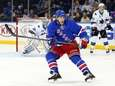 Chris Mueller of the Rangers skates against the